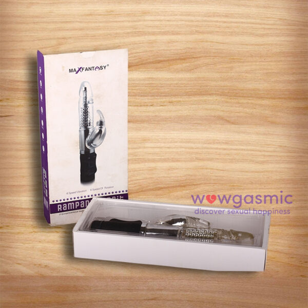 Rechargeable Up & Down Thrusting Multi Speed Rabbit Vibrator 2 - wowgasmic