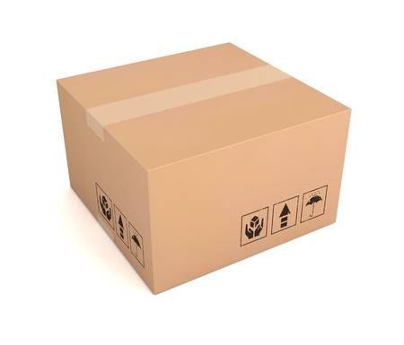 Discreet Packaging & Delivery An unbranded brown packaging box