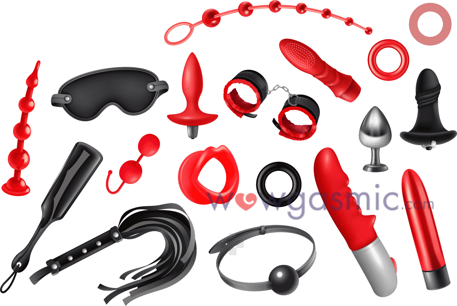 A vector image of various sex toys - wowgasmic sex toys in Kenya for sale